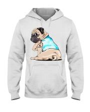 Pug I love mom shirt Hooded Sweatshirt thumbnail