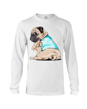 Pug I love mom shirt Long Sleeve Tee thumbnail