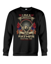 I am a veteran like MV Father before me shirt Crewneck Sweatshirt thumbnail