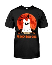 French Boo-Dog Halloween Classic T-Shirt front