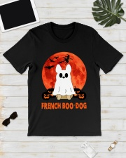 French Boo-Dog Halloween Classic T-Shirt lifestyle-mens-crewneck-front-17