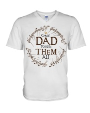 One dad to rule them all t-shirt V-Neck T-Shirt thumbnail