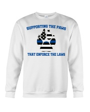 Supporting the paws that enforce the laws shirt Crewneck Sweatshirt tile