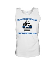 Supporting the paws that enforce the laws shirt Unisex Tank thumbnail