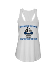 Supporting the paws that enforce the laws shirt Ladies Flowy Tank tile