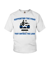 Supporting the paws that enforce the laws shirt Youth T-Shirt thumbnail