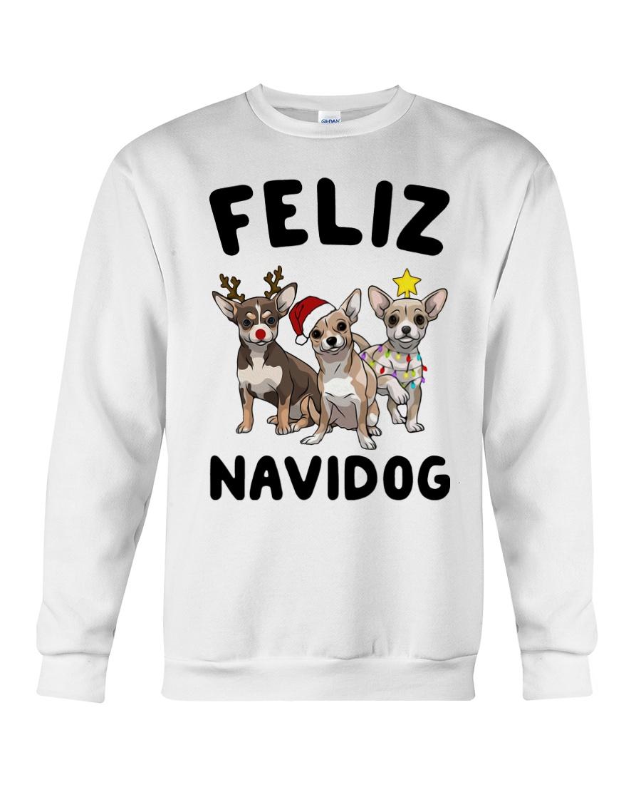 Feliz Navidog Chihuahua Christmas Crewneck Sweatshirt