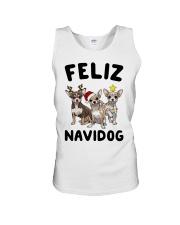 Feliz Navidog Chihuahua Christmas Unisex Tank thumbnail