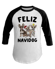 Feliz Navidog Chihuahua Christmas Baseball Tee thumbnail