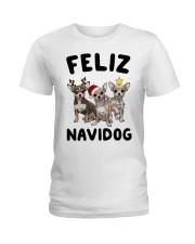 Feliz Navidog Chihuahua Christmas Ladies T-Shirt thumbnail