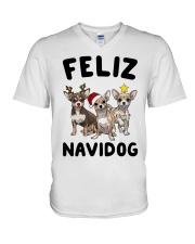 Feliz Navidog Chihuahua Christmas V-Neck T-Shirt thumbnail
