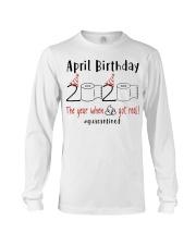 April Birthday 2020 Quarantined T-shirt Long Sleeve Tee thumbnail