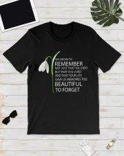 We begin to remember Beautiful to forget shirt Classic T-Shirt lifestyle-mens-crewneck-front-17