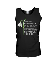 We begin to remember Beautiful to forget shirt Unisex Tank thumbnail