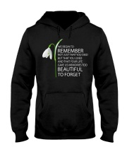 We begin to remember Beautiful to forget shirt Hooded Sweatshirt thumbnail