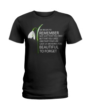 We begin to remember Beautiful to forget shirt Ladies T-Shirt thumbnail