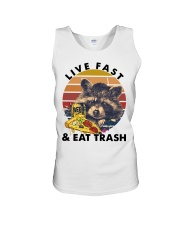 Raccoon Beer Pizza Live Fast And Eat Trash  Unisex Tank thumbnail