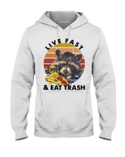 Raccoon Beer Pizza Live Fast And Eat Trash  Hooded Sweatshirt thumbnail