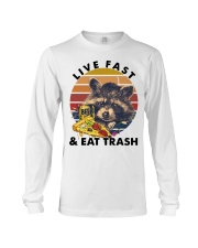 Raccoon Beer Pizza Live Fast And Eat Trash  Long Sleeve Tee thumbnail