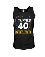 I Turned 40 In Quarantine Shirt  Unisex Tank thumbnail