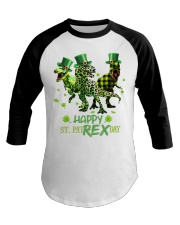 Happy St Patrex Day shirt Baseball Tee thumbnail