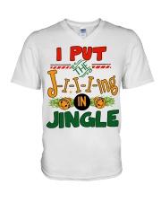 I put the Jing in Jingle Christmas shirt V-Neck T-Shirt thumbnail