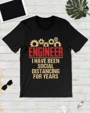 Engineer I have been social Distancing for years Classic T-Shirt lifestyle-mens-crewneck-front-17