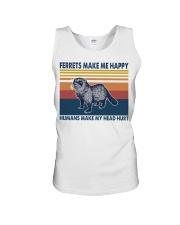 Ferrets make me happy humans make my head hurt Unisex Tank thumbnail