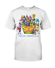 Crayon Autism Awareness It's ok to be different  Classic T-Shirt front