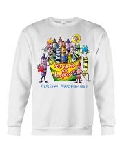 Crayon Autism Awareness It's ok to be different  Crewneck Sweatshirt thumbnail