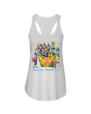 Crayon Autism Awareness It's ok to be different  Ladies Flowy Tank thumbnail