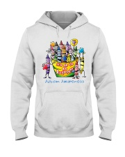 Crayon Autism Awareness It's ok to be different  Hooded Sweatshirt thumbnail