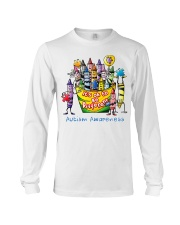 Crayon Autism Awareness It's ok to be different  Long Sleeve Tee thumbnail