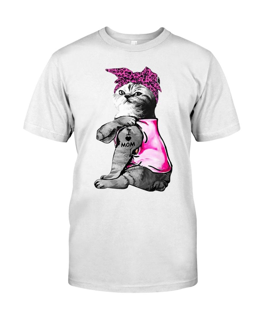 Cat tattoo I love mom funny shirt Classic T-Shirt