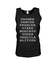 Dasher Dancer Prancer Vixen Moscato Vodka shirt Unisex Tank thumbnail