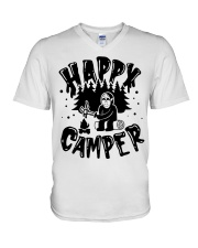 Happy Camper Jason Voorhees Halloween shirt V-Neck T-Shirt thumbnail