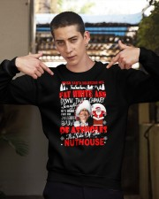 When santa squeezes his fat white ass Crewneck Sweatshirt apparel-crewneck-sweatshirt-lifestyle-04