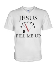 Jesus fill me up shirt V-Neck T-Shirt thumbnail