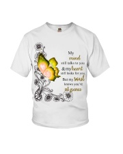 Butterfly My mind still talks to your heart s Youth T-Shirt thumbnail