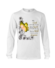 Butterfly My mind still talks to your heart s Long Sleeve Tee thumbnail