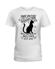 Salem Sanctuary for wayward cats feral and  Ladies T-Shirt thumbnail