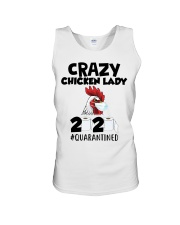 Crazy Chicken lady 2020 quarantined T-shirt Unisex Tank thumbnail