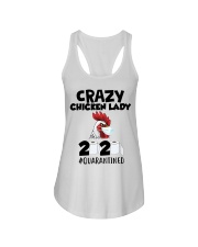 Crazy Chicken lady 2020 quarantined T-shirt Ladies Flowy Tank thumbnail