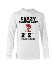 Crazy Chicken lady 2020 quarantined T-shirt Long Sleeve Tee thumbnail