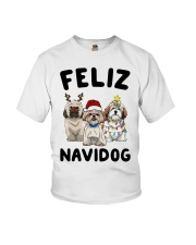 Feliz Navidog Shih Tzu Christmas shirt Youth T-Shirt thumbnail