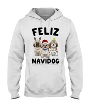 Feliz Navidog Shih Tzu Christmas shirt Hooded Sweatshirt thumbnail