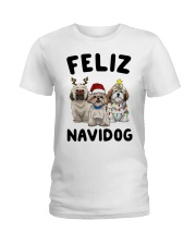 Feliz Navidog Shih Tzu Christmas shirt Ladies T-Shirt thumbnail