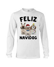Feliz Navidog Shih Tzu Christmas shirt Long Sleeve Tee tile