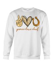 Peace love hoof shirt Crewneck Sweatshirt thumbnail