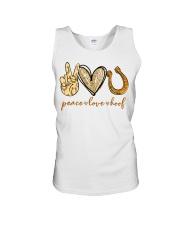 Peace love hoof shirt Unisex Tank thumbnail